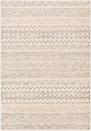Kids Area Rug 6'7 x 9', Wheat/Charcoal/Ash Gray, large