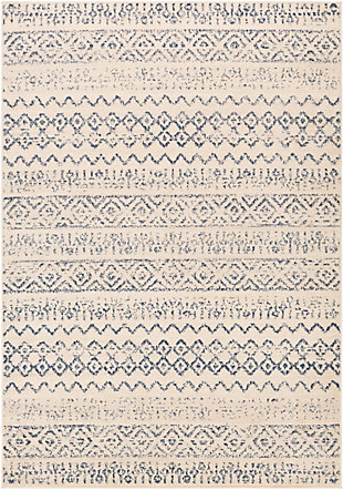 Kids Area Rug 6'7 x 9', Denim/Wheat/Cream, large