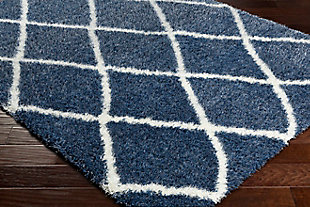 Kids Area Rug 7'10 x 10'2, Navy/Cream, rollover
