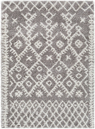 Kids Area Rug 5'3 x 7'3, Charcoal/Ash Gray/Cream, large