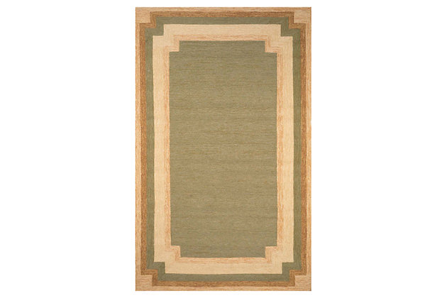 "Home Accents 7'6"" x 9'6"" Rug, Green, large"