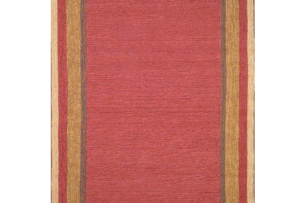 "Home Accents 3'6"" x 5'6"" Indoor/Outdoor Rug, Red, large"