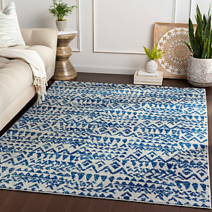 Kids Area Rug 5'3 x 7'6, Navy/Denim/Ash Gray, rollover