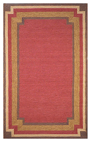 "Home Accents 7'6"" x 9'6"" Rug, Red, large"
