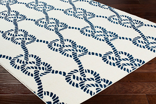 Kids Area Rug 2' x 3', Navy/Cream, large