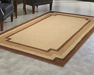 "Home Accents 5' x 7'6"" Indoor/Outdoor Rug, Beige, rollover"
