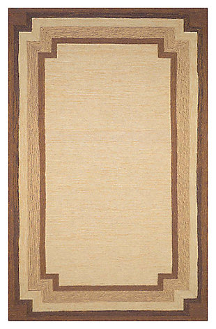 "Home Accents 5' x 7'6"" Indoor/Outdoor Rug, Beige, large"
