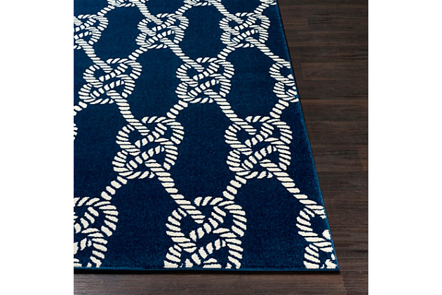 "Kids Area Rug 5'3"" x 7'3"", Navy/Cream, large"