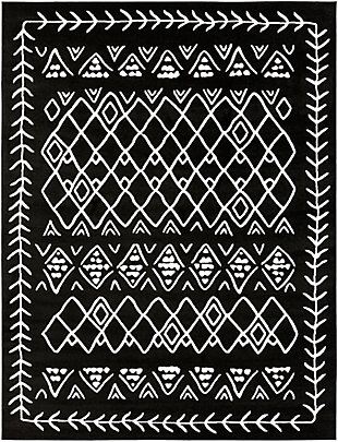 "Kids Area Rug 7'10"" x 10'3"", Black/Cream, large"