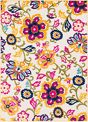 Kids Area Rug 5'3 x 7'3, Bright Pink/Navy/Cream, large