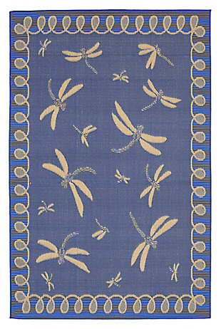 "Home Accents 4'10"" x 7'6"" Indoor/Outdoor Rug, Blue, large"