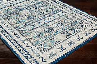 "Kids Area Rug 5'3"" x 7'3"", Denim/Ash Gray/Aqua, large"