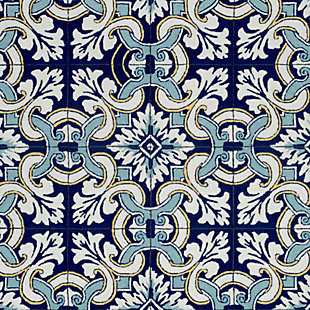 """Home Accents 3'6"""" x 5'6"""" Indoor/Outdoor Rug, Blue, large"""