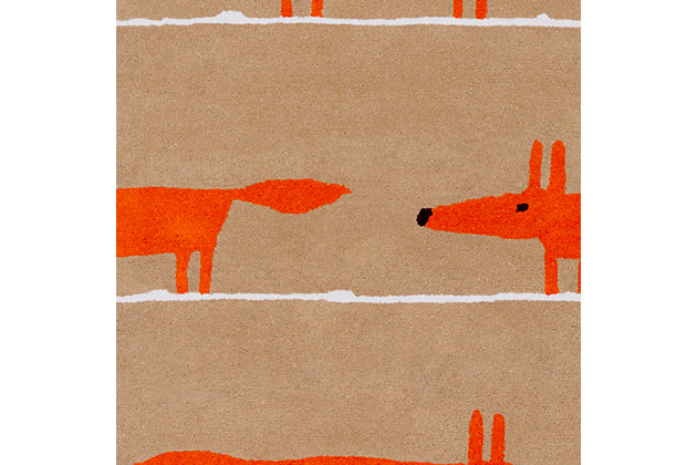 "Kids Area Rug 3'3"" x 5'3"", Orange/Chocolate/Ivory, large"