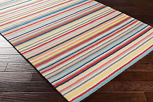 "Kids Area Rug 5' x 7'6"", Camel/Pink/Burnt Orange, rollover"