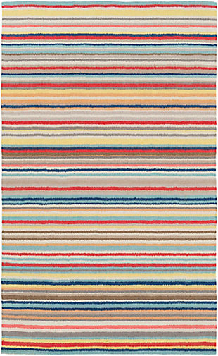 "Kids Area Rug 5' x 7'6"", Camel/Pink/Burnt Orange, large"