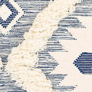 Hand Woven 8' x 10' Area Rug, Denim/Cream, large