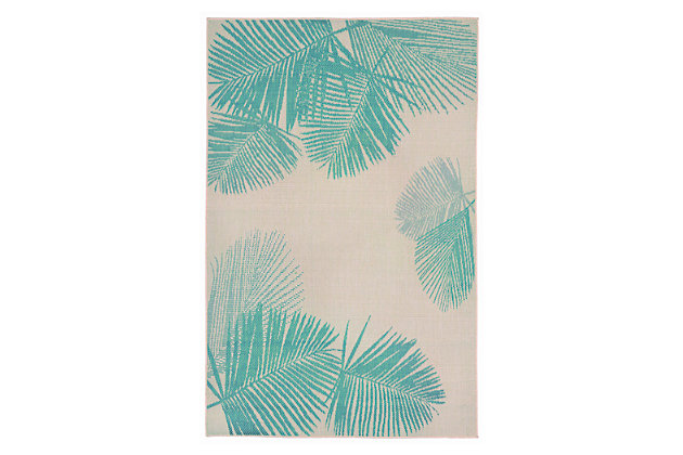 """Home Accents 4'10"""" x 7'6"""" Indoor/Outdoor Rug, Blue, large"""