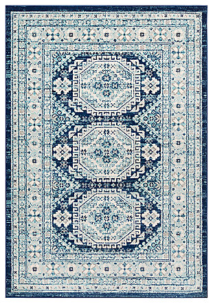 "Machine Woven 7'10"" x 10'3"" Area Rug, Demin/Navy/Ash, large"
