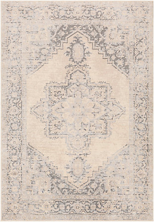 """Machine Woven 6'7"""" x 9' Area Rug, Charcoal/Wheat/Ash, rollover"""