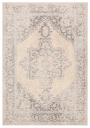 "Machine Woven 7'10"" x 10' Area Rug, Charcoal/Wheat/Ash, large"