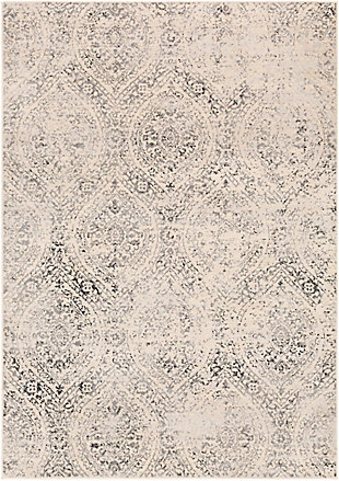 "Machine Woven 6'7"" x 9' Area Rug, Charcoal/Wheat/Ash, rollover"
