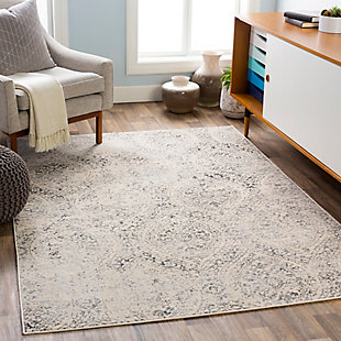 """Machine Woven 7'10"""" x 10' Area Rug, Charcoal/Wheat/Ash, rollover"""