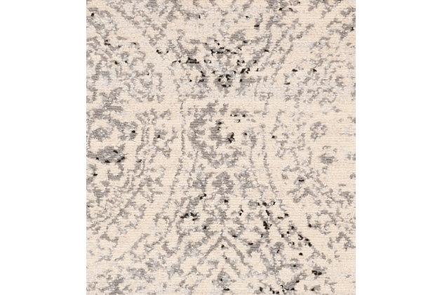 "Machine Woven 7'10"" x 10' Area Rug, Charcoal/Wheat/Ash, large"