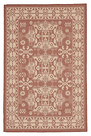 "Home Accents 4'10"" x 7'6"" Indoor/Outdoor Rug, Orange, large"