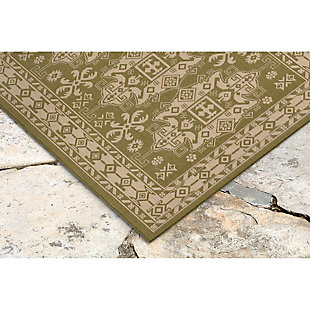 "Home Accents 4'10"" x 7'6"" Indoor/Outdoor Rug, Green, rollover"