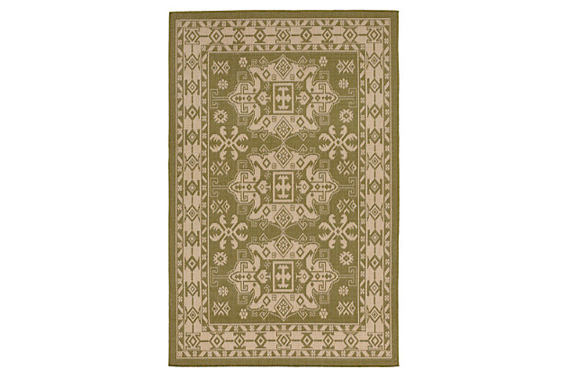 "Home Accents 4'10"" x 7'6"" Indoor/Outdoor Rug, Green, large"