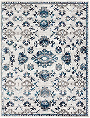 "Machine Woven 7'10"" x 10'3"" Area Rug, Navy/Ash/Ivory, rollover"