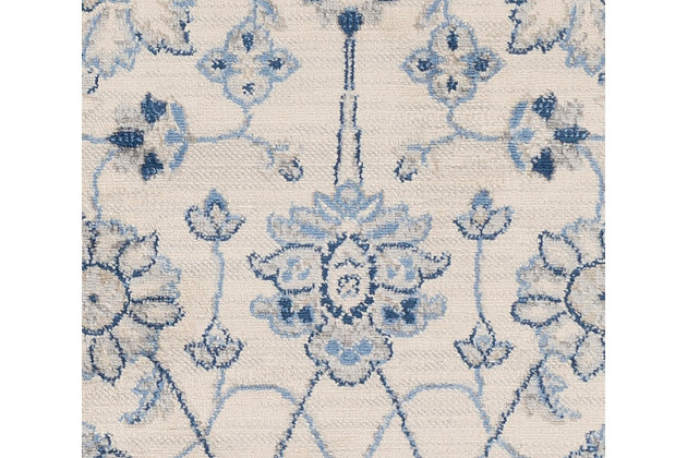 """Machine Woven 4'3"""" x 5'11"""" Area Rug, Navy/Ash/Ivory, large"""