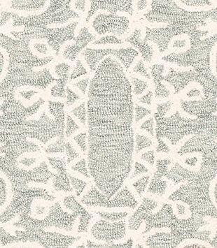 Machine Woven 8' x 10' Area Rug, Seafoam/Sage/Cream, large