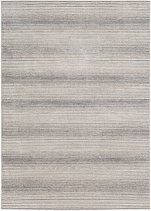 "Machine Woven 5'3"" x 7'3"" Area Rug, Charcoal/Ash/Cream, rollover"