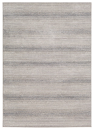 "Machine Woven 6'7"" x 9'6"" Area Rug, Charcoal/Ash/Cream, large"