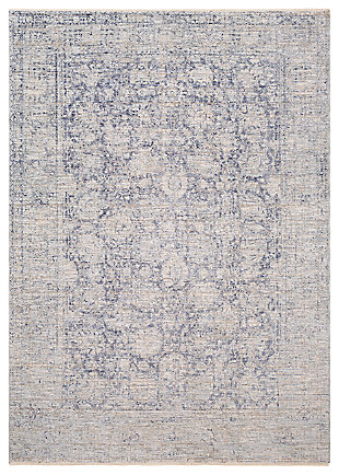 "Machine Woven 7'10"" x 10'3"" Area Rug, Denim/Ash/Taupe, large"