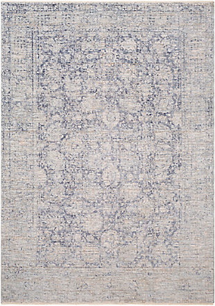 "Machine Woven 7'10"" x 10'3"" Area Rug, Denim/Ash/Taupe, rollover"