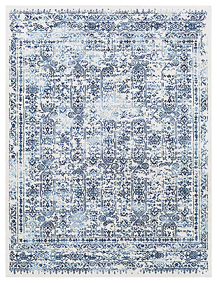 """Machine Woven 7'10"""" x 10' Area Rug, Navy/Charcoal/Cream, large"""