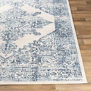 "Machine Woven 5'3"" x 7'1"" Area Rug, Navy/Charcoal/Cream, large"