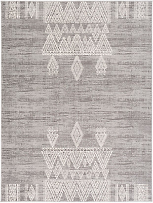 "Machine Woven 7'10"" x 10' Area Rug, Khaki/Ash/Cream, large"