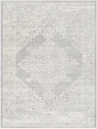 "Machine Woven 7'10"" x 10' Area Rug, Khaki/Ash/Cream, rollover"