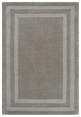 Hand Tufted 8' x 11' Area Rug, Ash/Charcoal, large