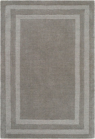 Hand Tufted 8' x 11' Area Rug, Ash/Charcoal, rollover