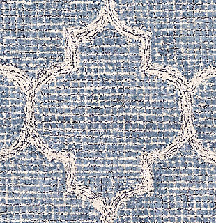 Hand Tufted 8' x 10' Area Rug, Denim/Navy/Ivory, large