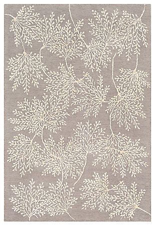 Hand Tufted 6' x 9' Area Rug, Charcoal/Ash/Cream, large
