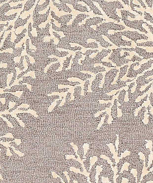 Hand Tufted 8' x 10' Area Rug, Charcoal/Ash/Cream, large