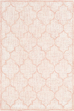 Hand Tufted 6' x 9' Area Rug, Peach/Beige/Rose, rollover