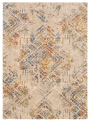 "Hand Woven 7'10"" x 10'3"" Area Rug, Butter/Cream/Champagne, large"