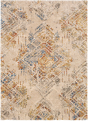 "Hand Woven 7'10"" x 10'3"" Area Rug, Butter/Cream/Champagne, rollover"